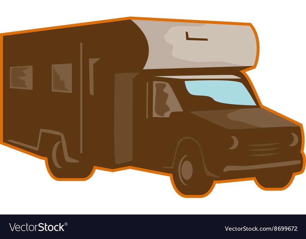 Campervan Motorhome Retro vector image