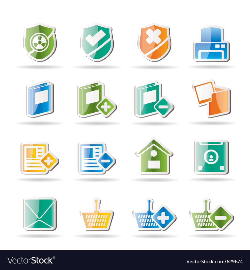 Internet and website buttons vector image