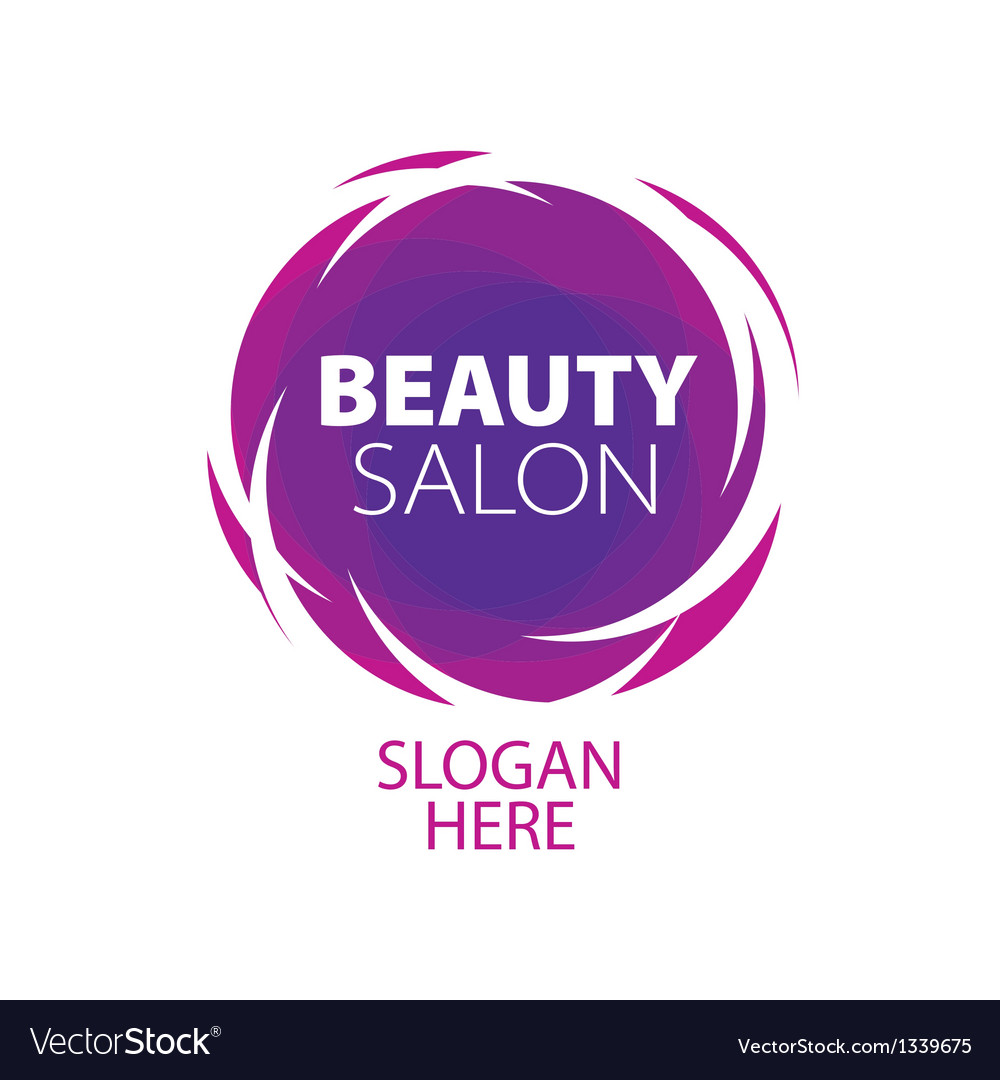 Abstract logo of beauty in the form of a ball vector image