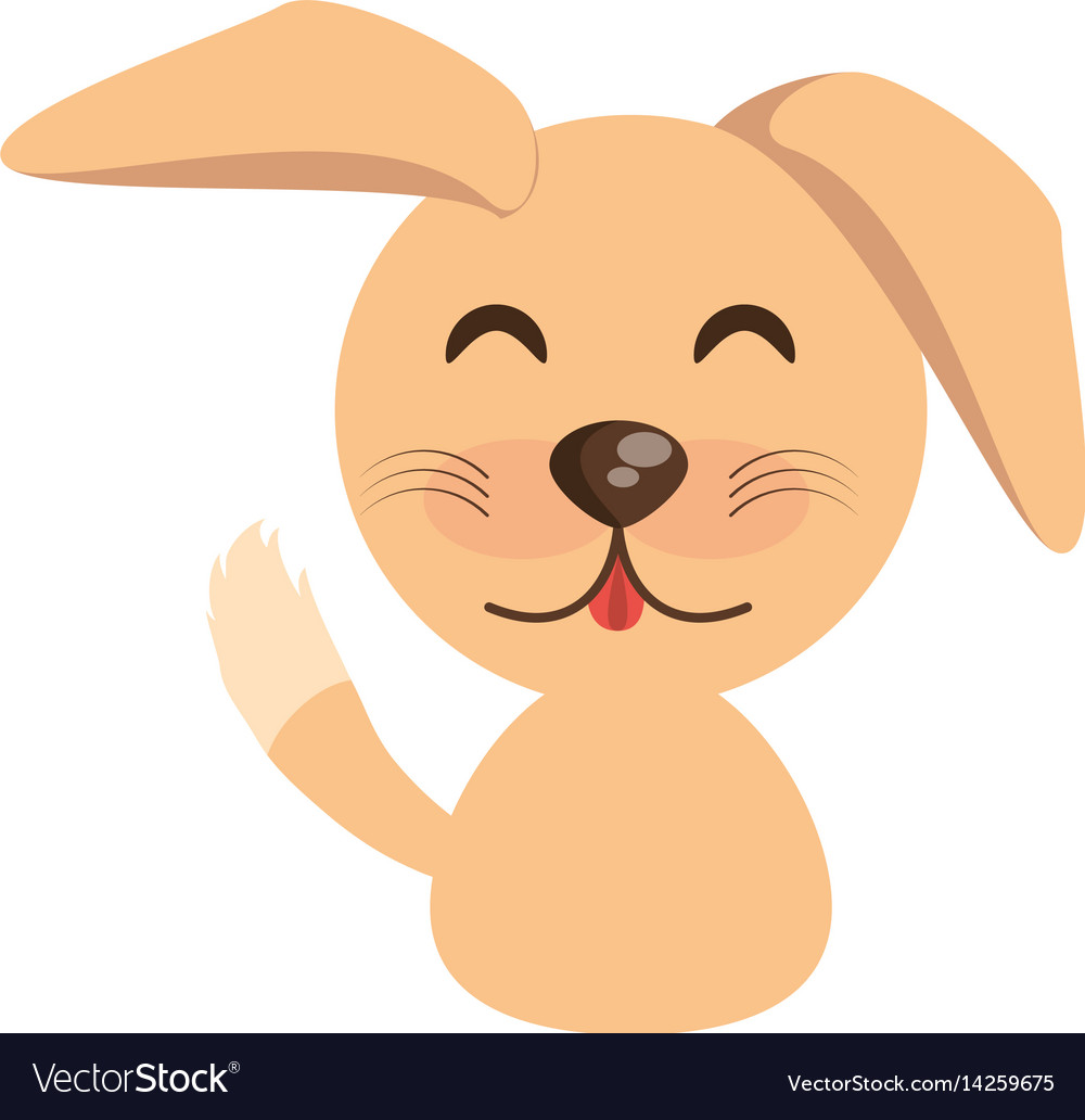 Cute dog animal character funny vector image