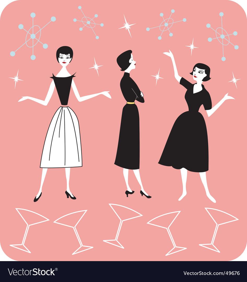 50s ladies vector image