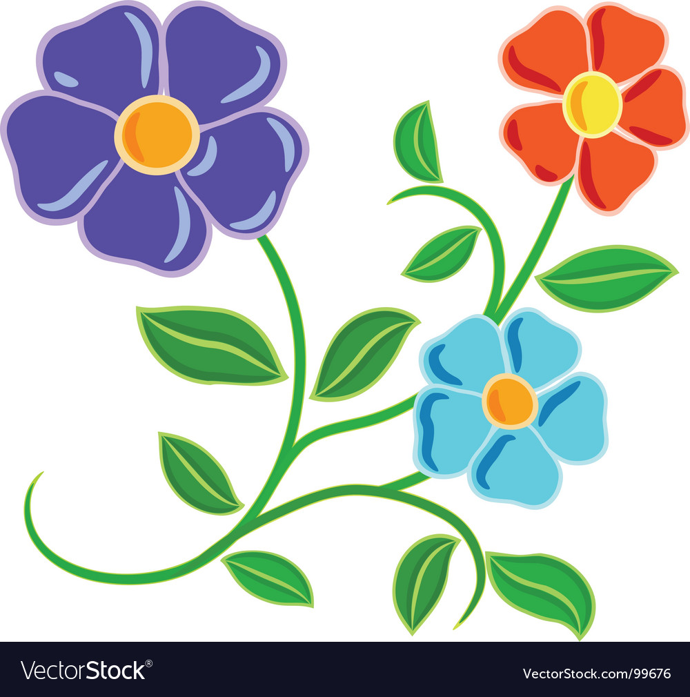 Hand drawn flowers Royalty Free Vector Image - VectorStock