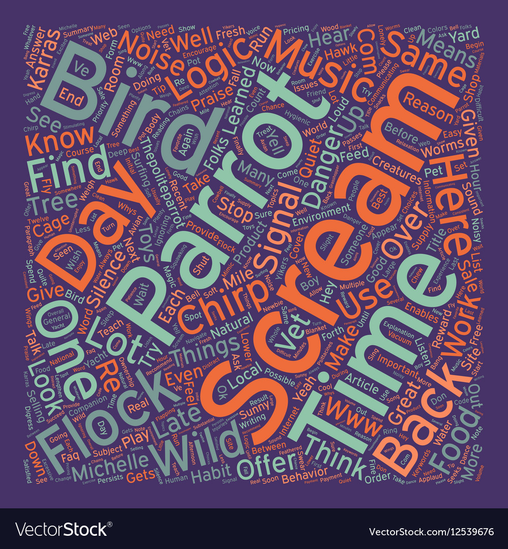 Why do birds scream text background wordcloud vector image