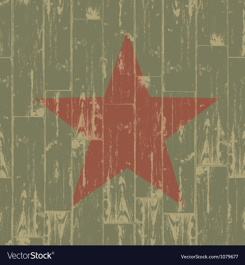 Aged red star symbol vector image