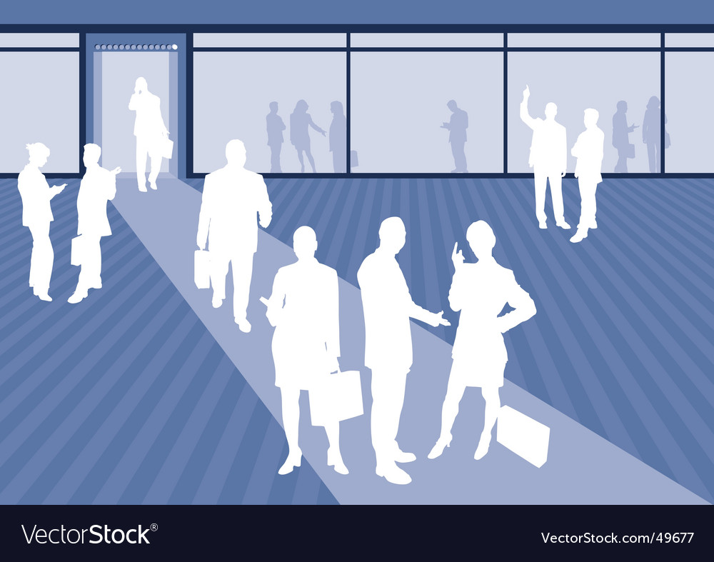 Business scene vector image