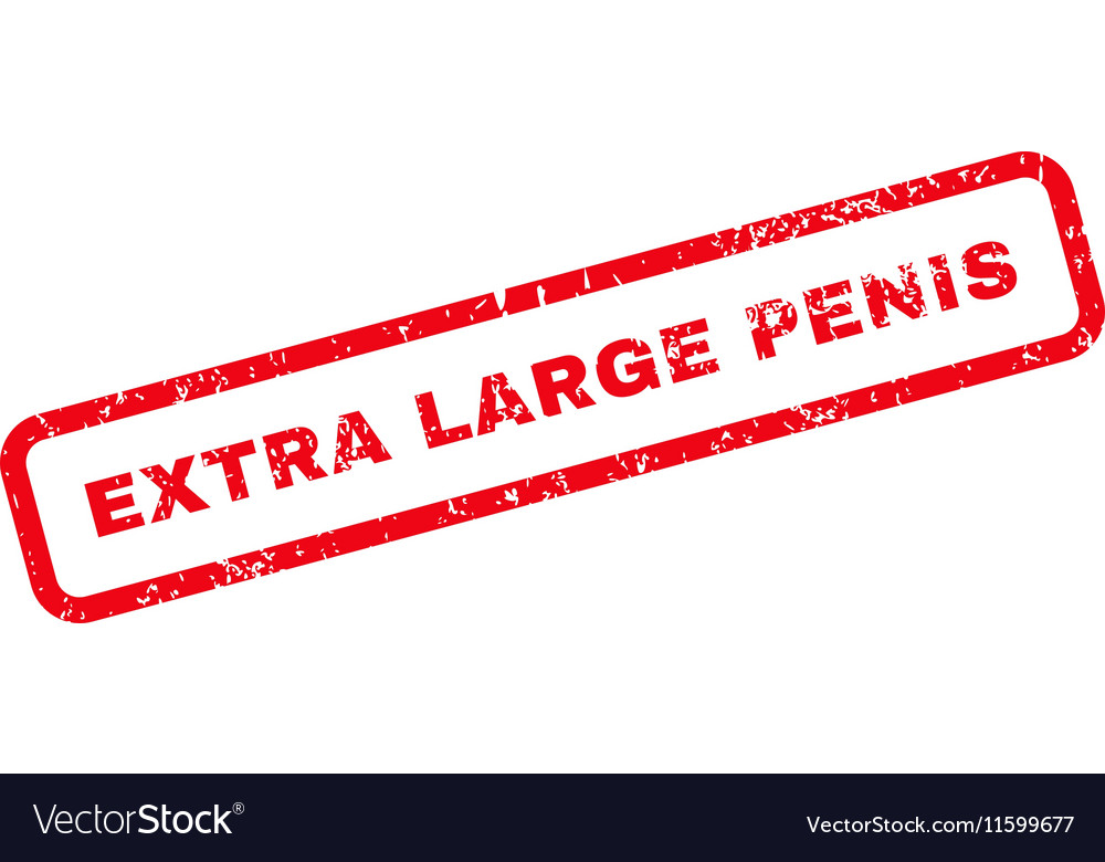 Extra Large Penis Text Rubber Stamp vector image