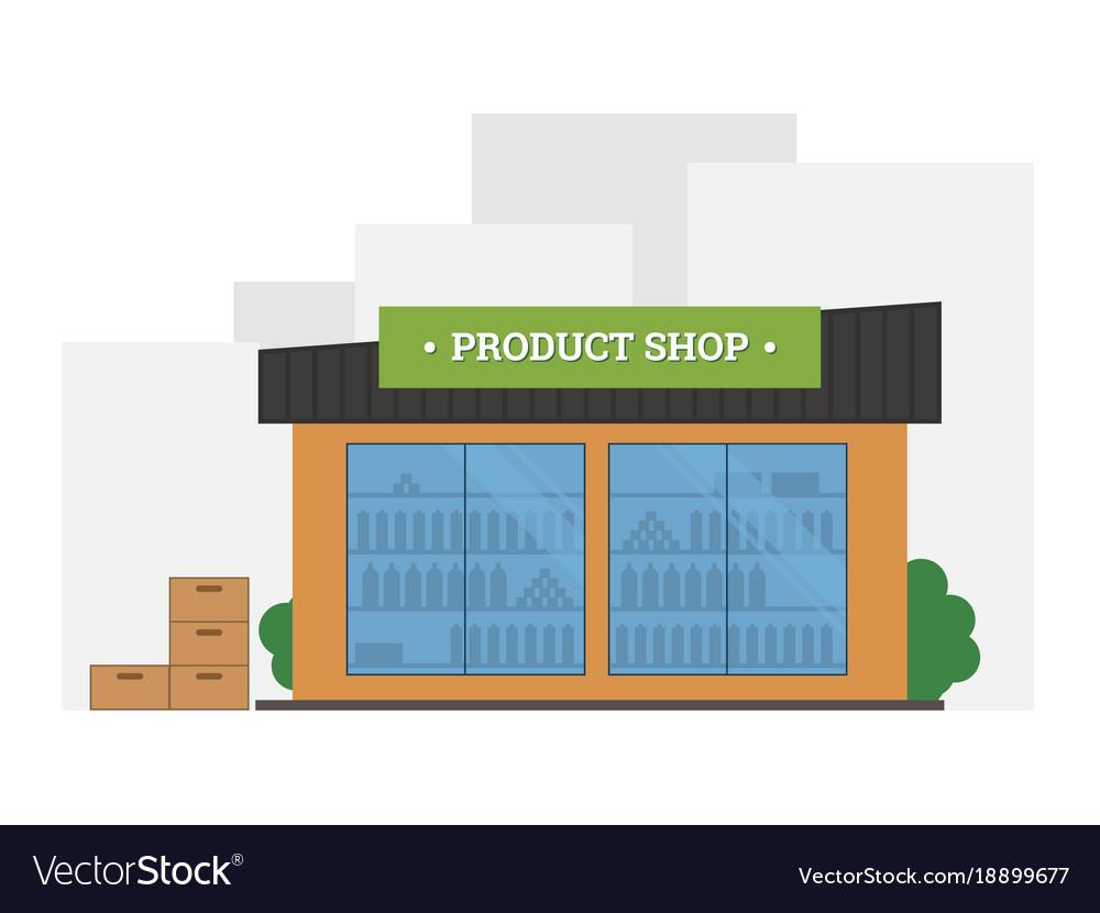Flat of shop building vector image