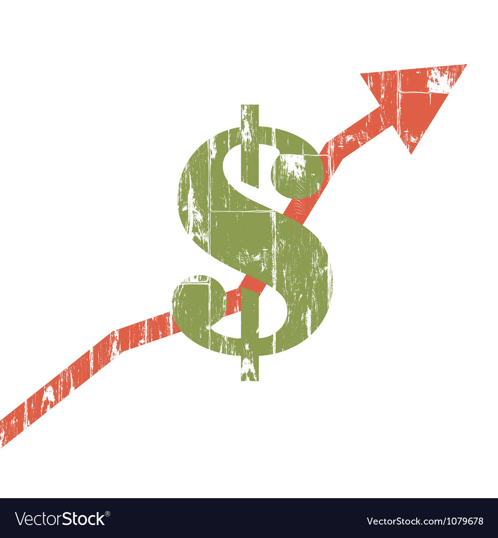 Earnings sign isolate grunge vector image