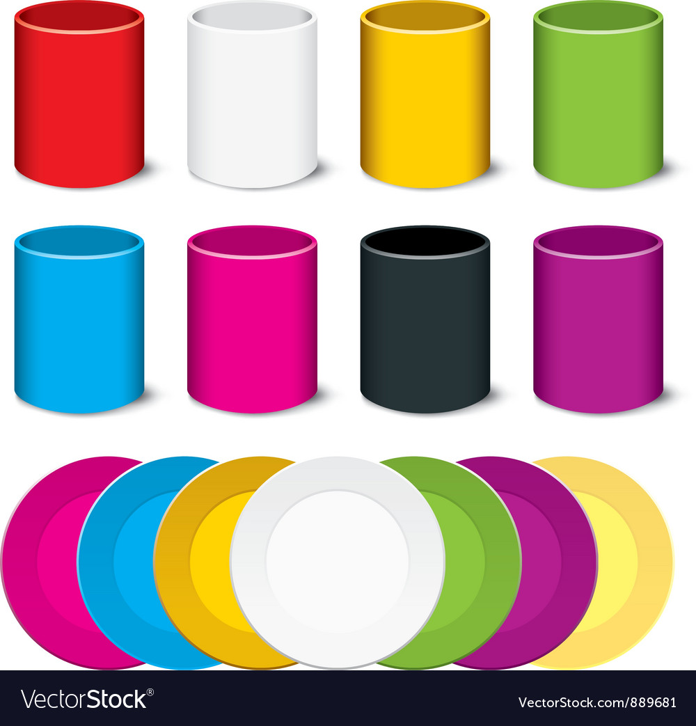 Plate and cup vector image