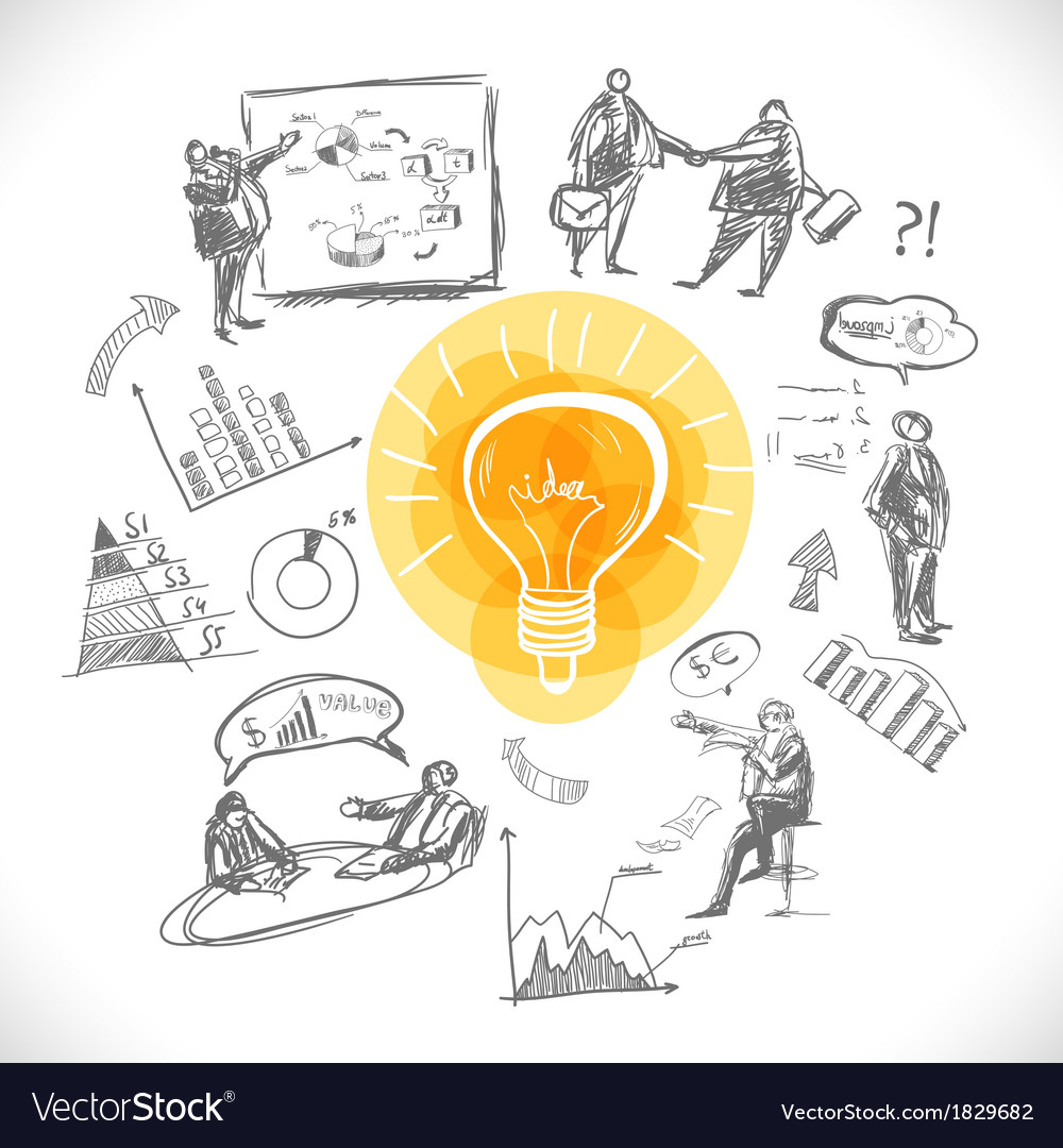 Doodle infographics background vector image