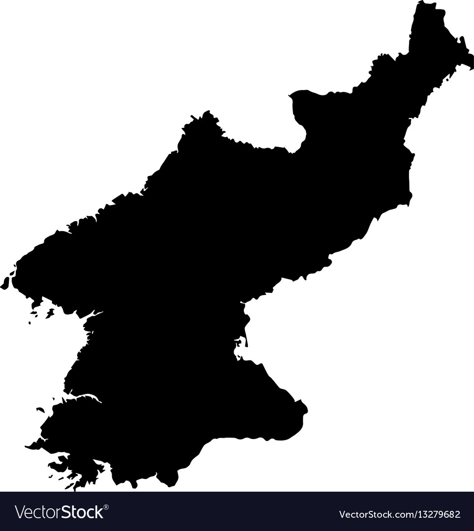 North korea map Royalty Free Vector Image VectorStock