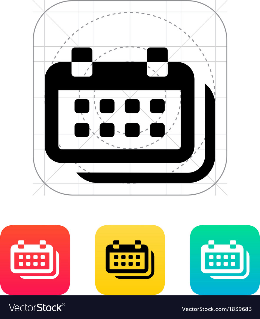Calendars icon vector image