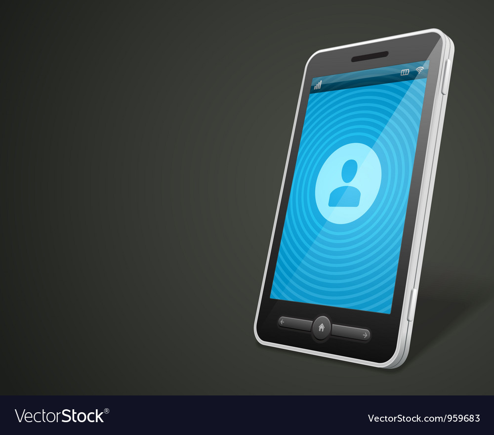 Mobile phone and profile icon vector image