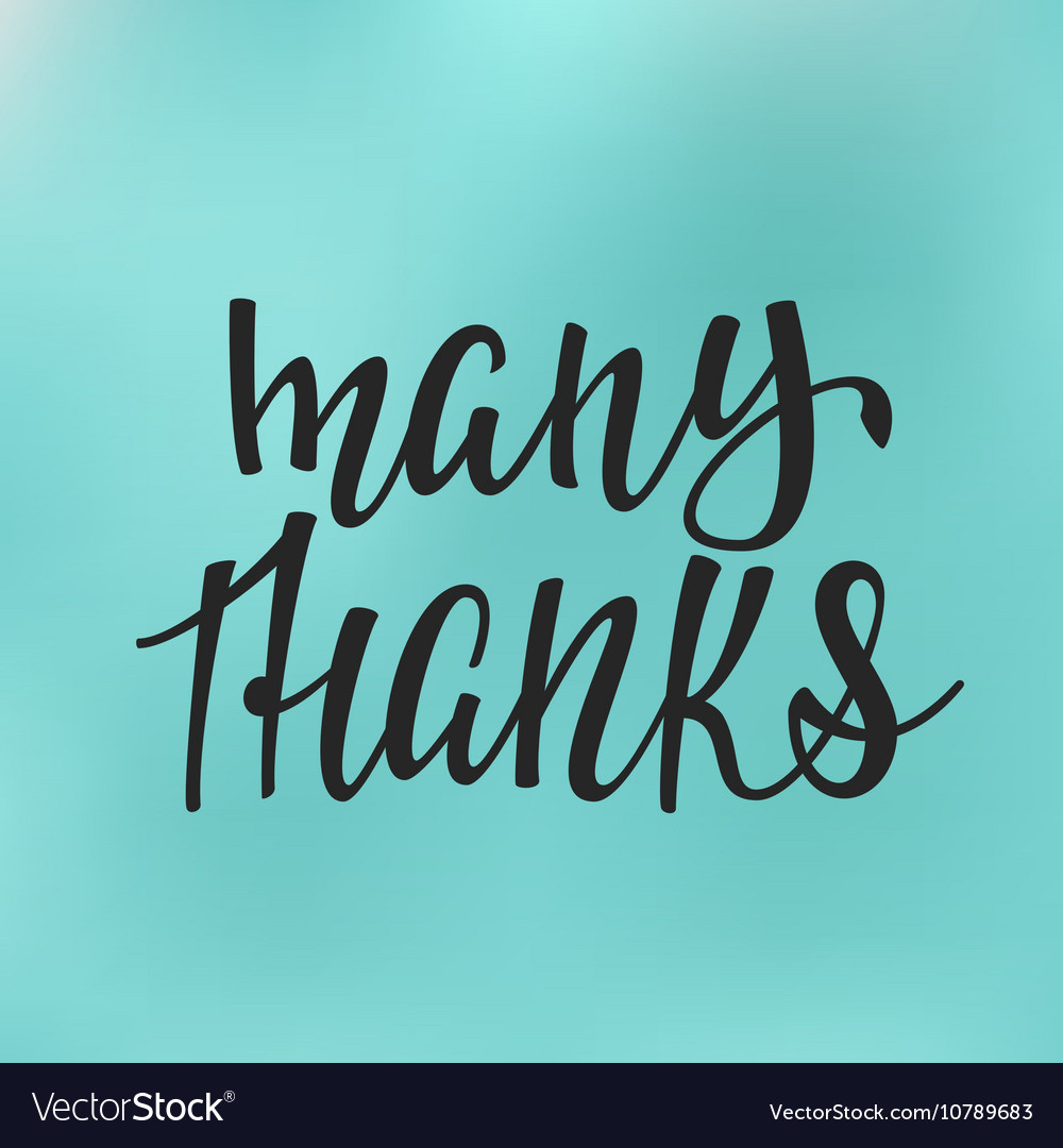 Thank You Quotes Thank You Family Positive Quote Lettering Vector Image