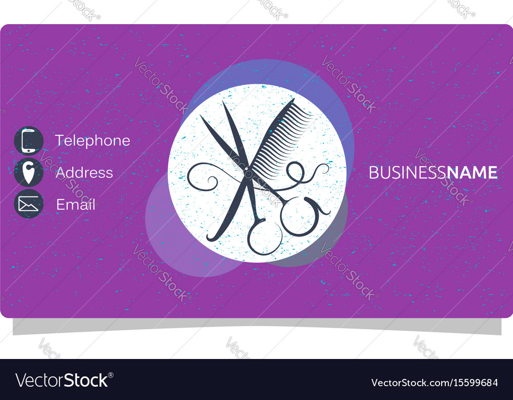 Beauty salon business card vector image