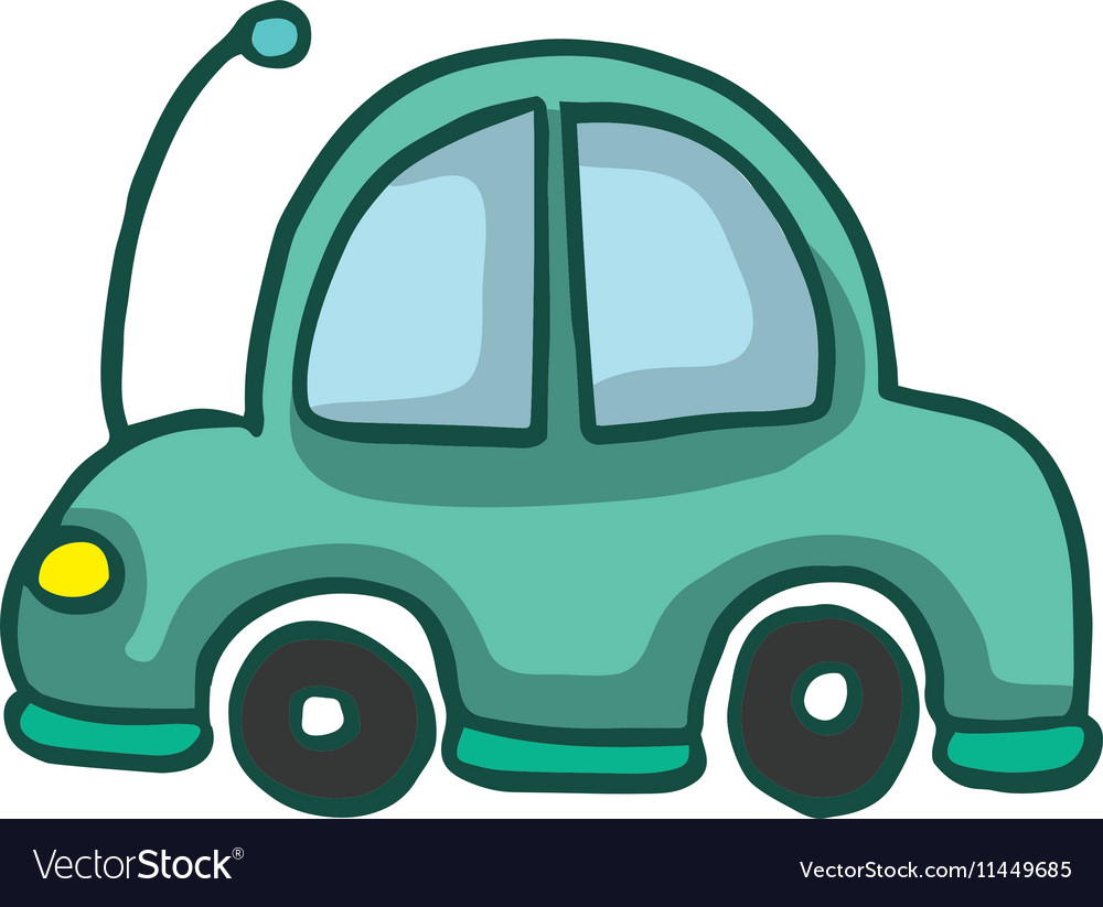 Car funny style design for kids vector image