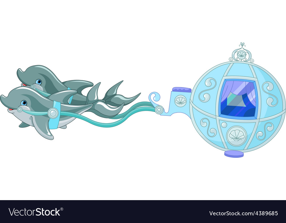 Dolphin carriage vector image