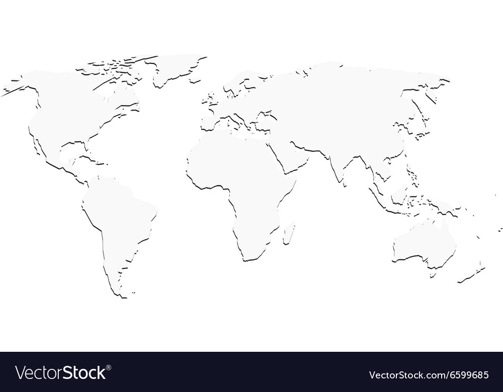 World map silhouette white world map with shadow silhouette royalty free vector gumiabroncs Gallery