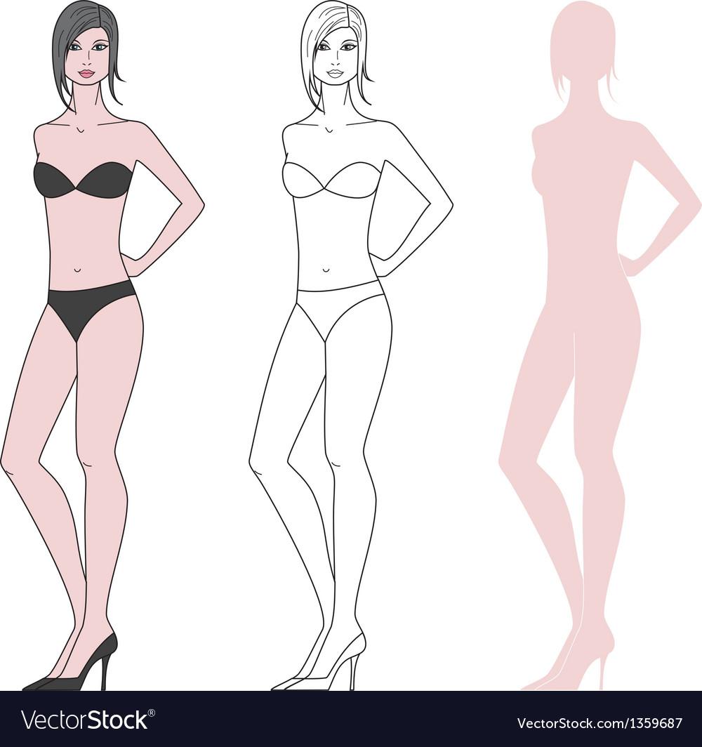 Women figure vector image