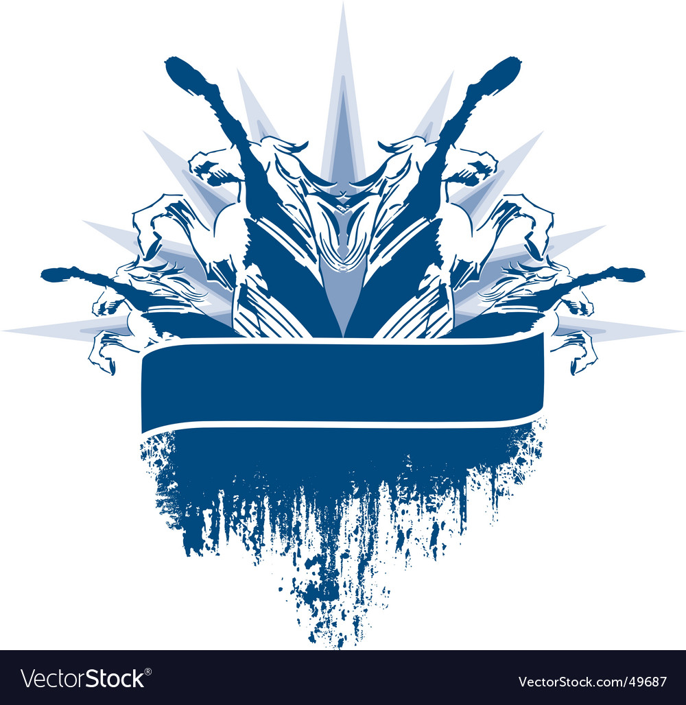 Horse crest vector image