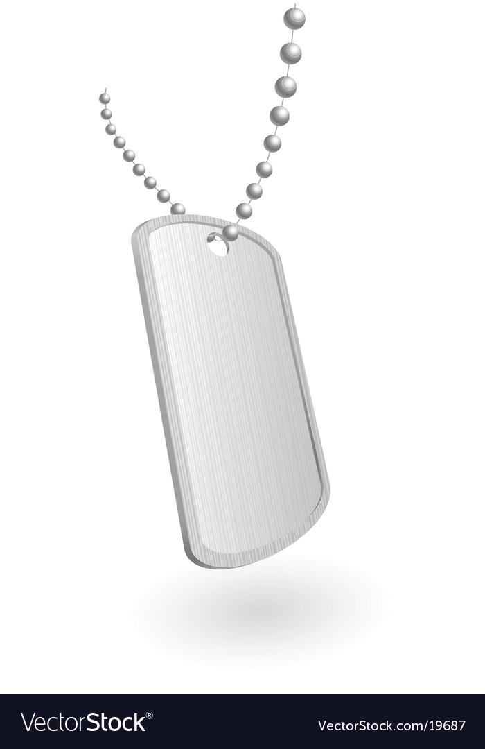 Military aluminum plate vector image