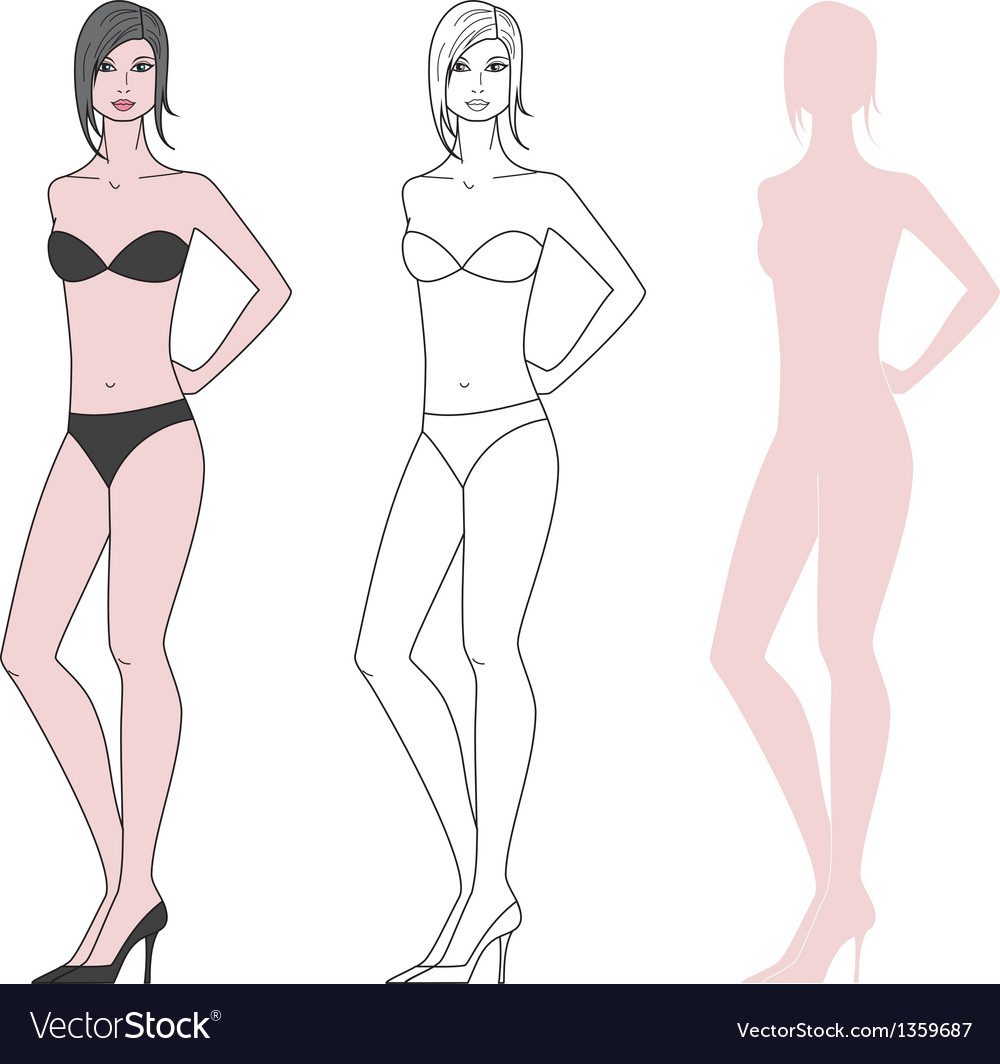 Women figure vector image