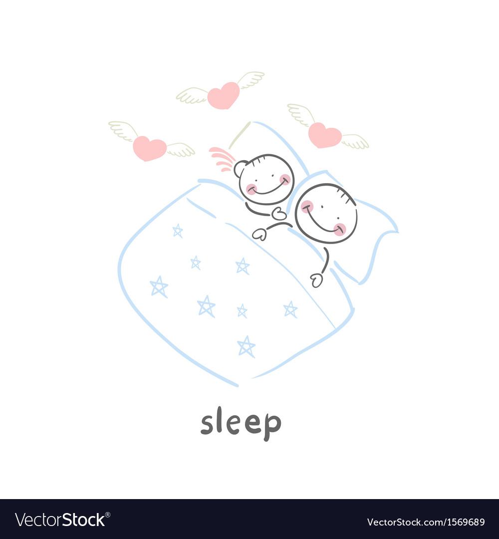 Sleep vector image