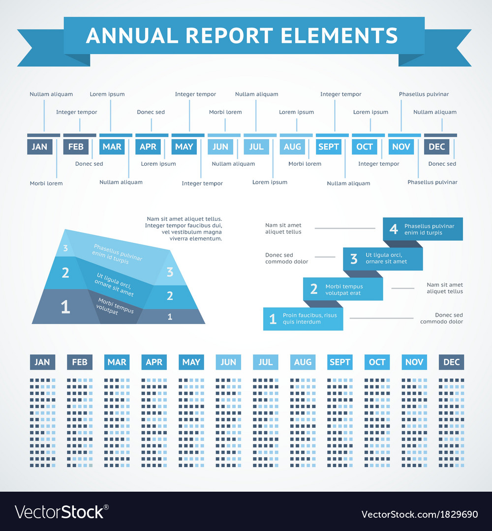 Presentation infographics charts for finance vector image