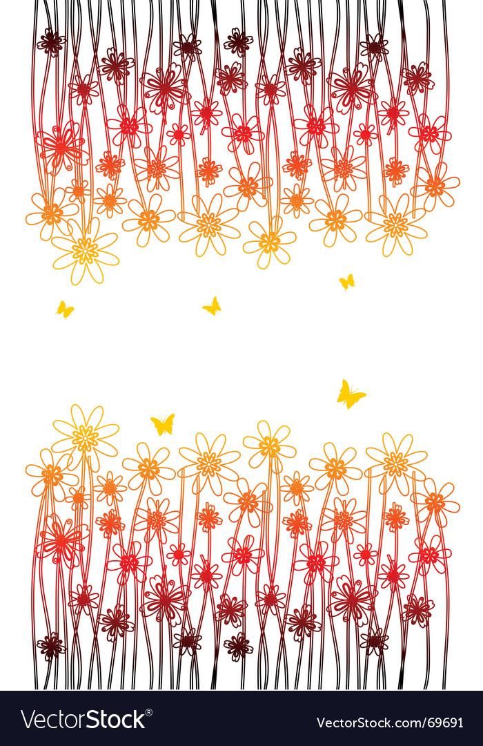 Fire flower vector image