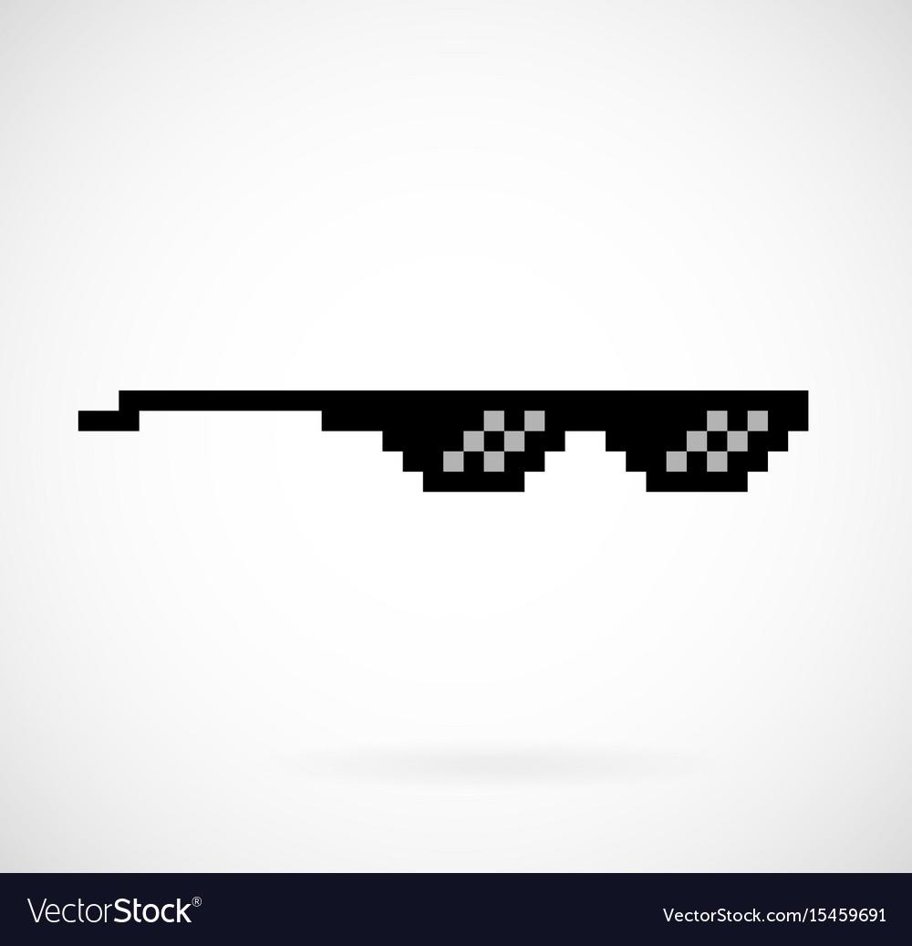 Life thug pixel glasses vector image