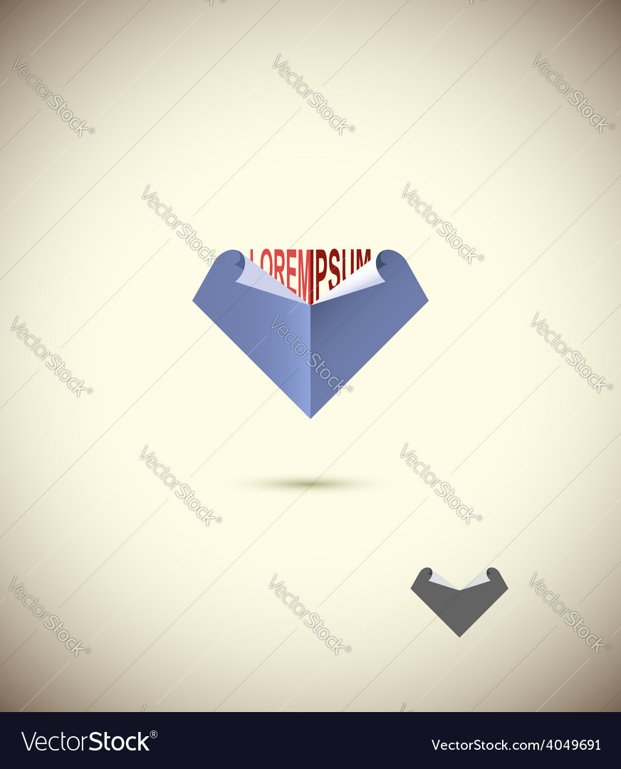 Logo abstract business Edge of the paper Concept vector image