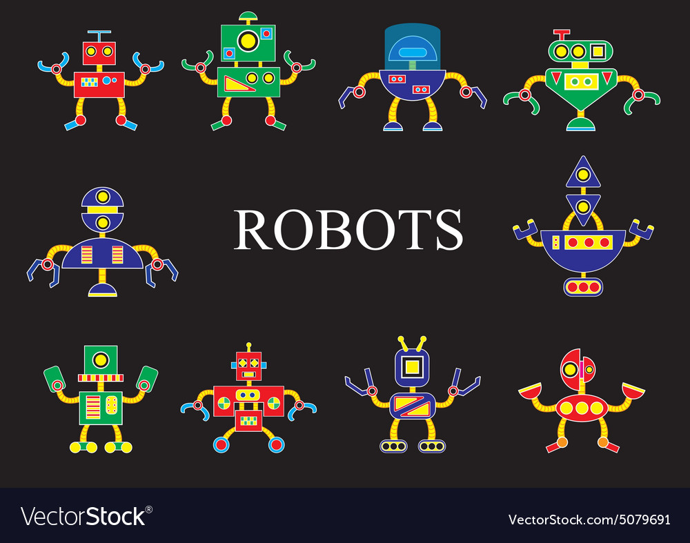 Robots the invader or friend vector image