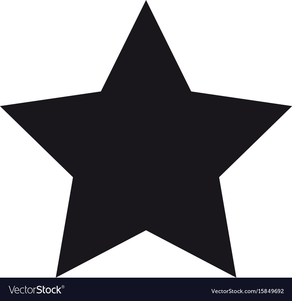 Black star symbol vector image