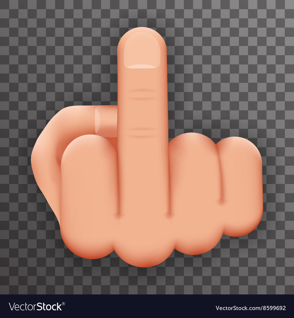 Realistic 3d Hand Middle Finger Up You Off vector image