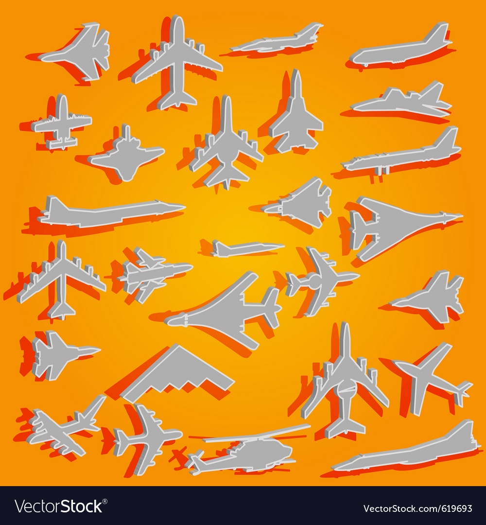 Combat aircraft team Vector Image