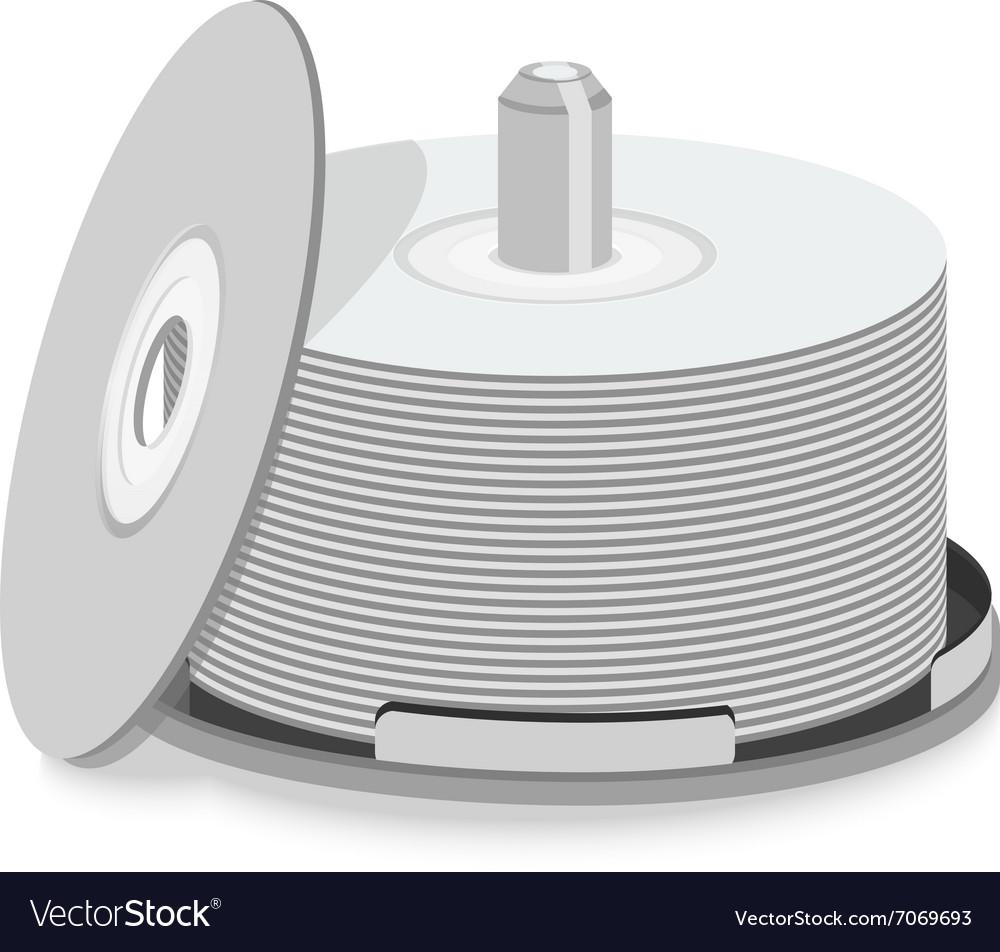 CD DVD pack vector image