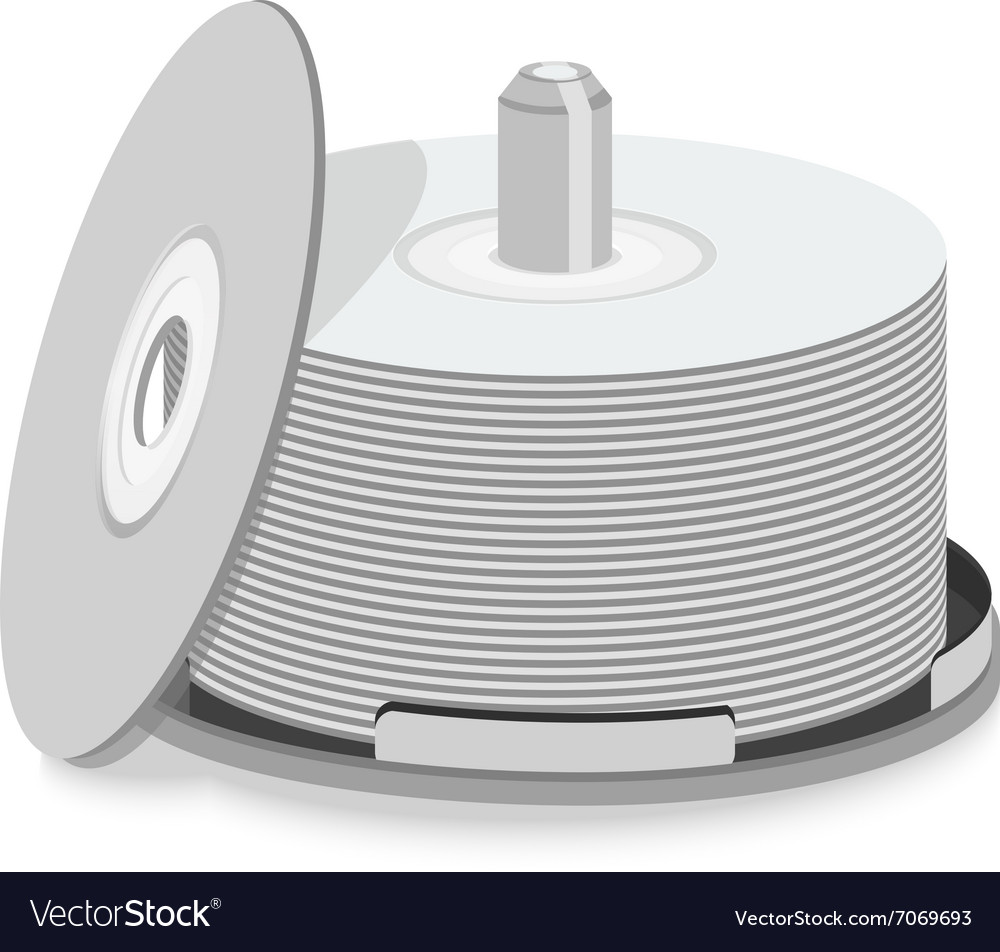 CD DVD pack vector image