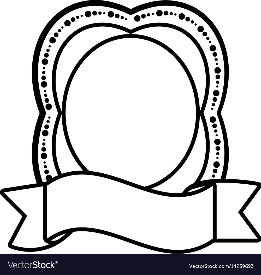 Label ribbon decoration empty icon vector image