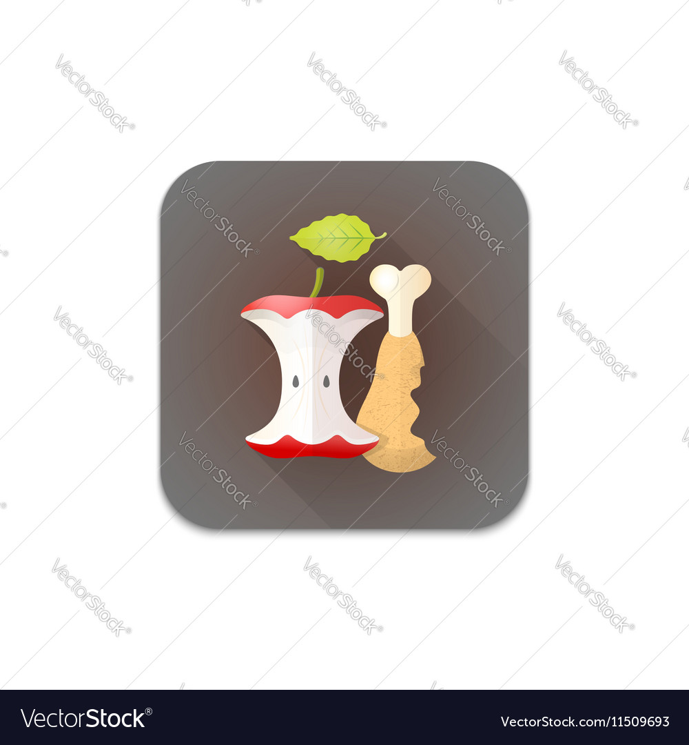 Organic recycle waste icon vector image