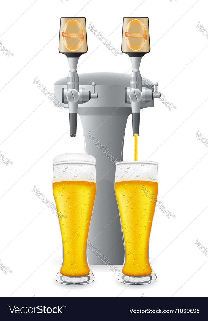 Beer equipment 02 vector image