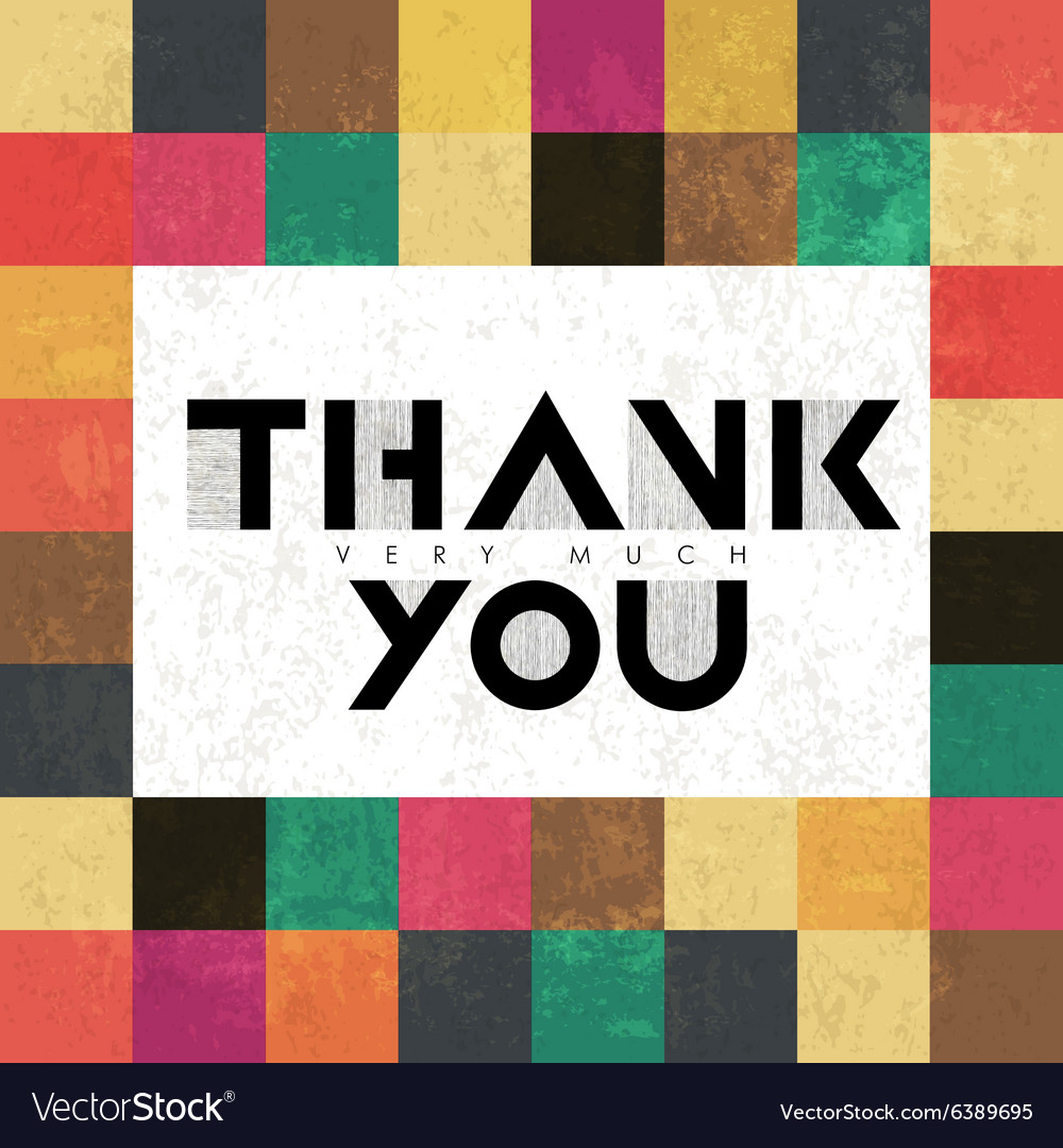 Thank you colorful vector image