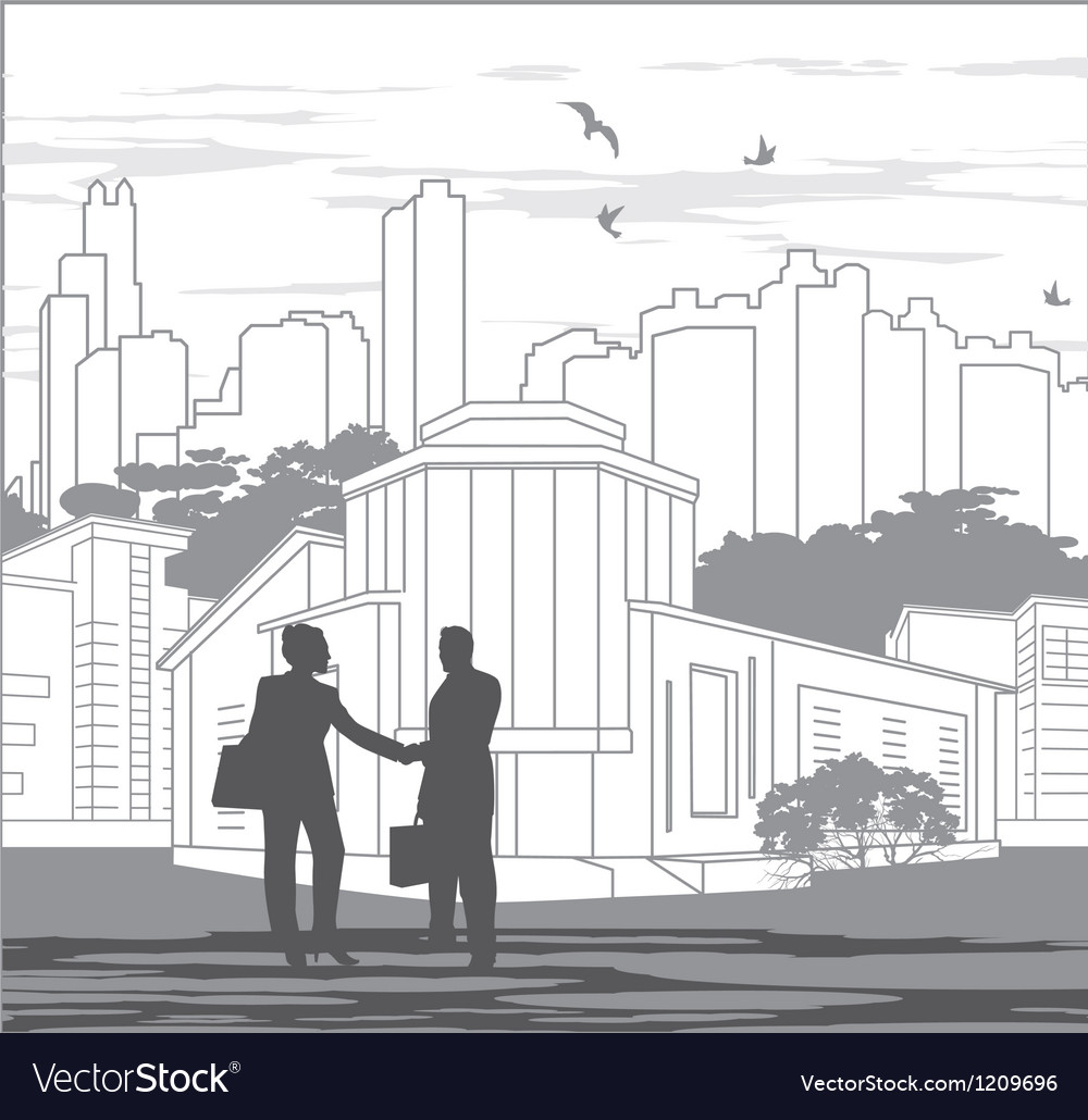 Grey silhouettes of people vector image