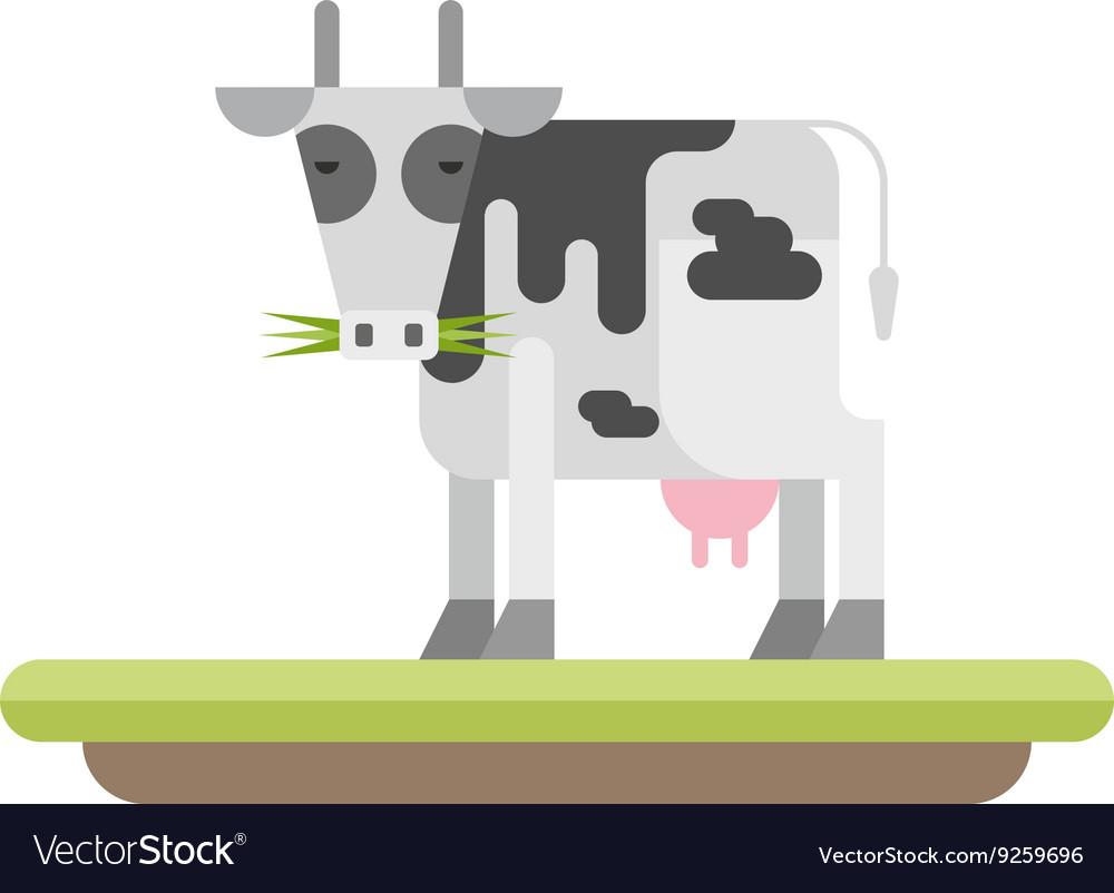 Farm animal Cow flat style vector image
