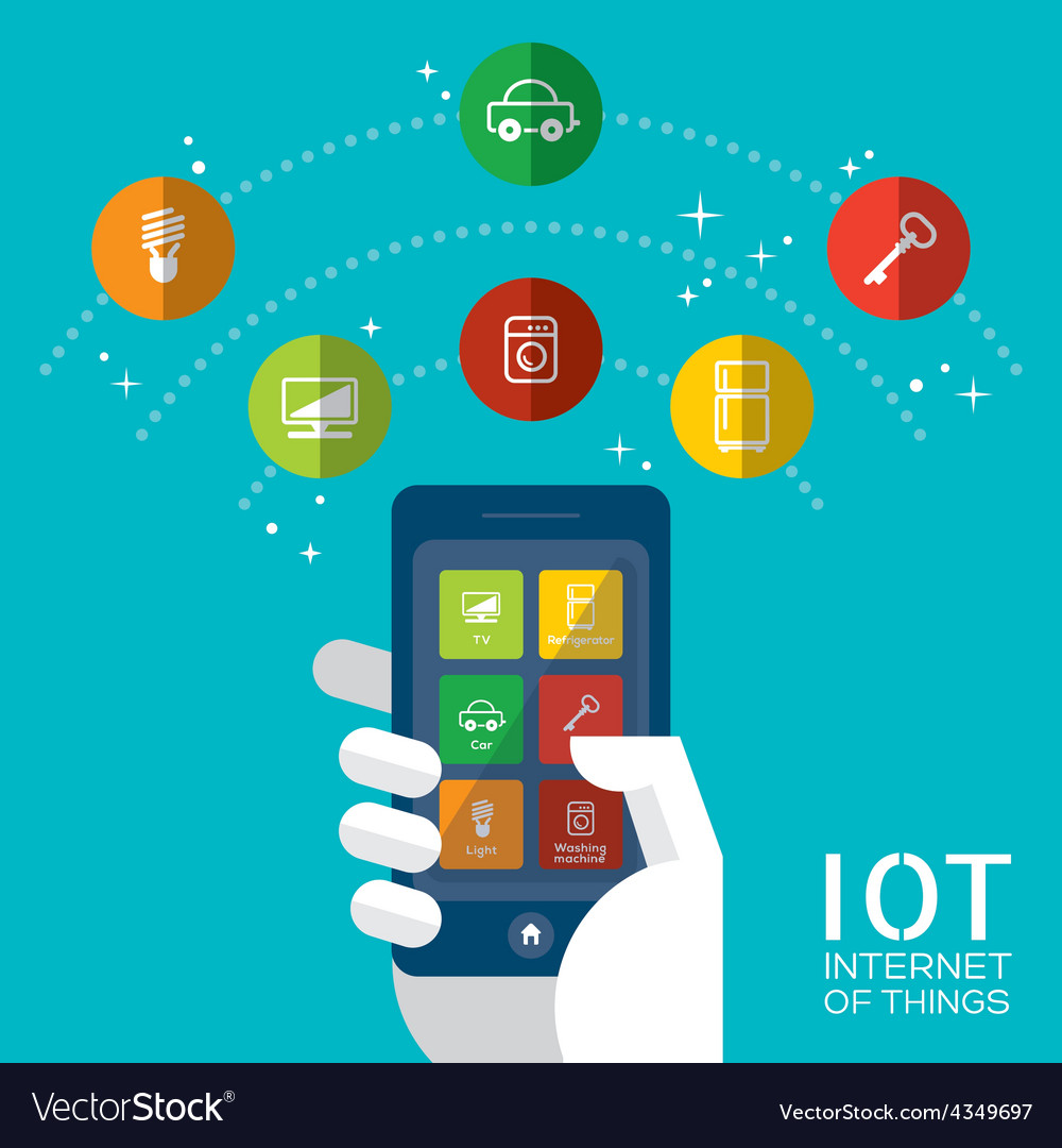 IOT - Internet of things concept vector image
