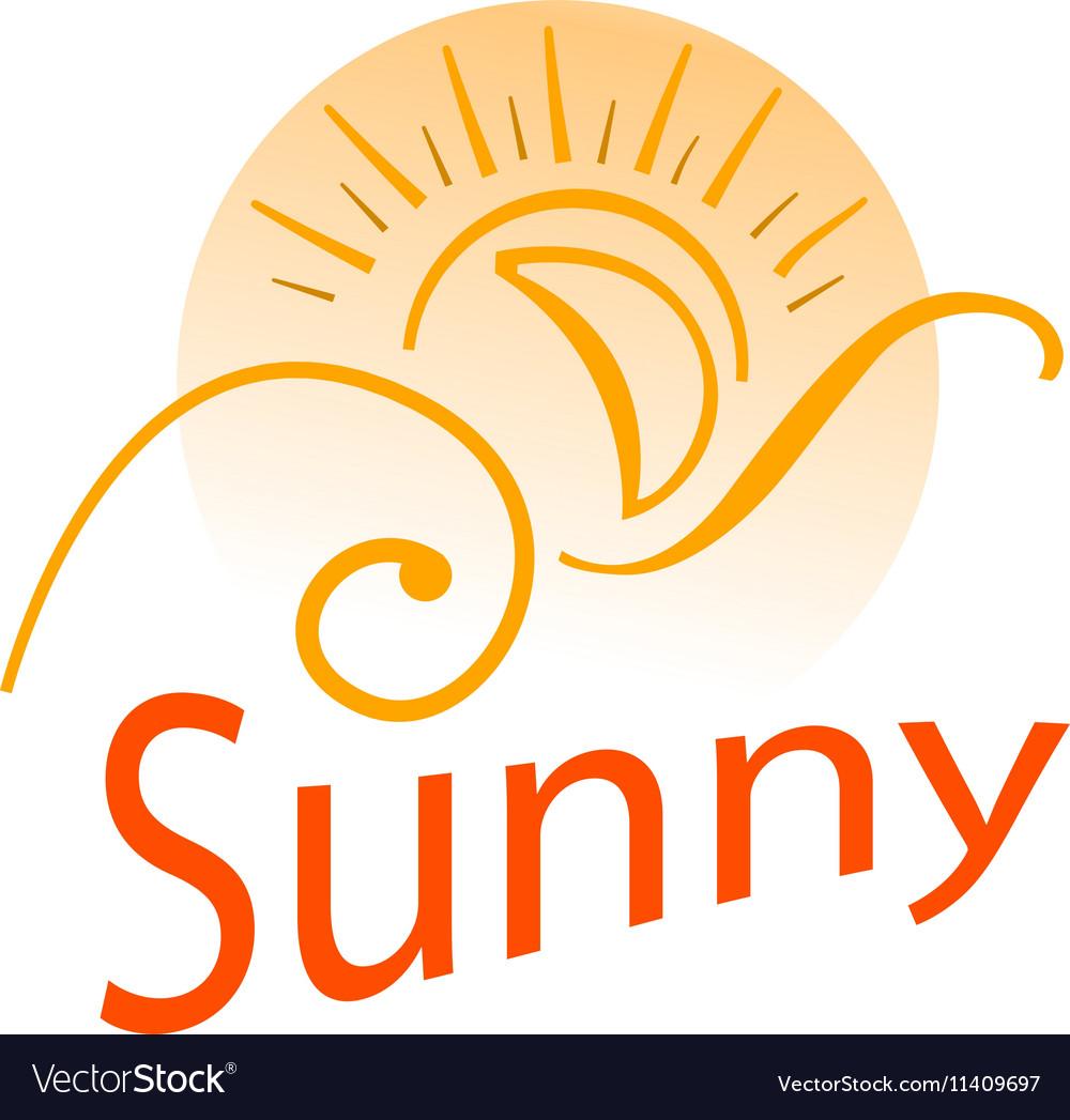 Logo sun vector image
