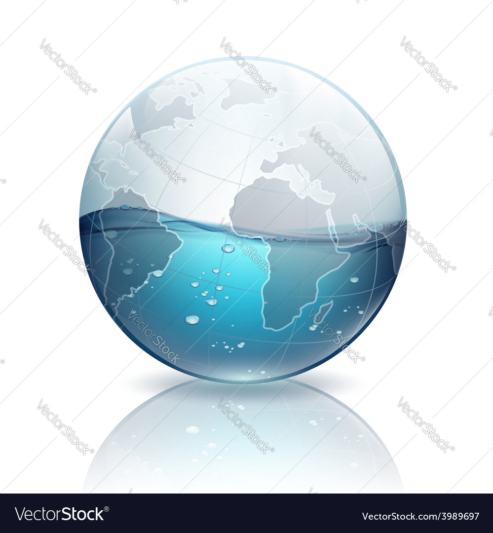 Water inside the planet earth vector image