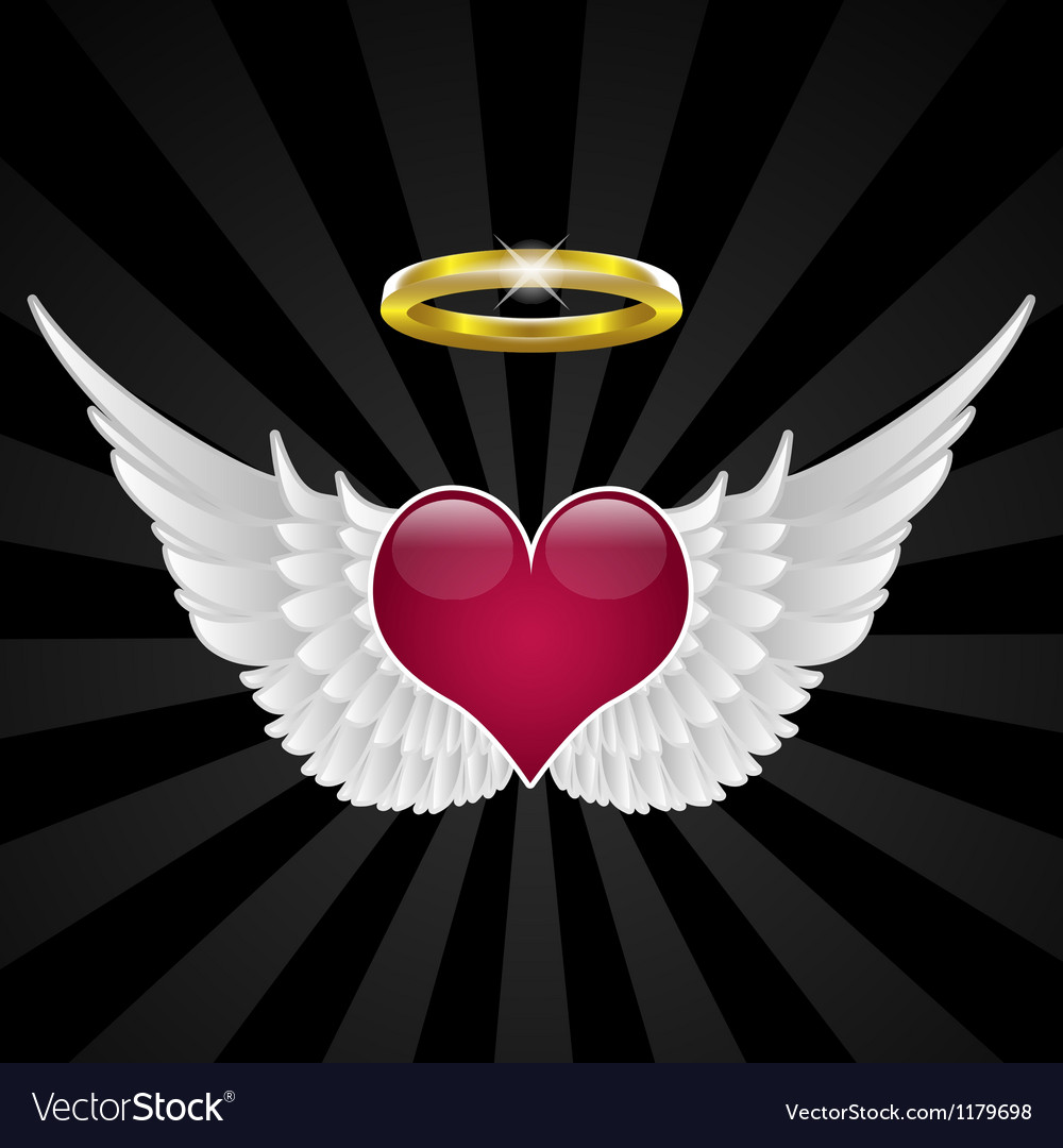 Wings of love vector image