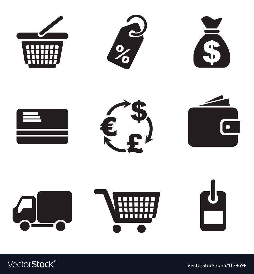 Computer commerce icons vector image