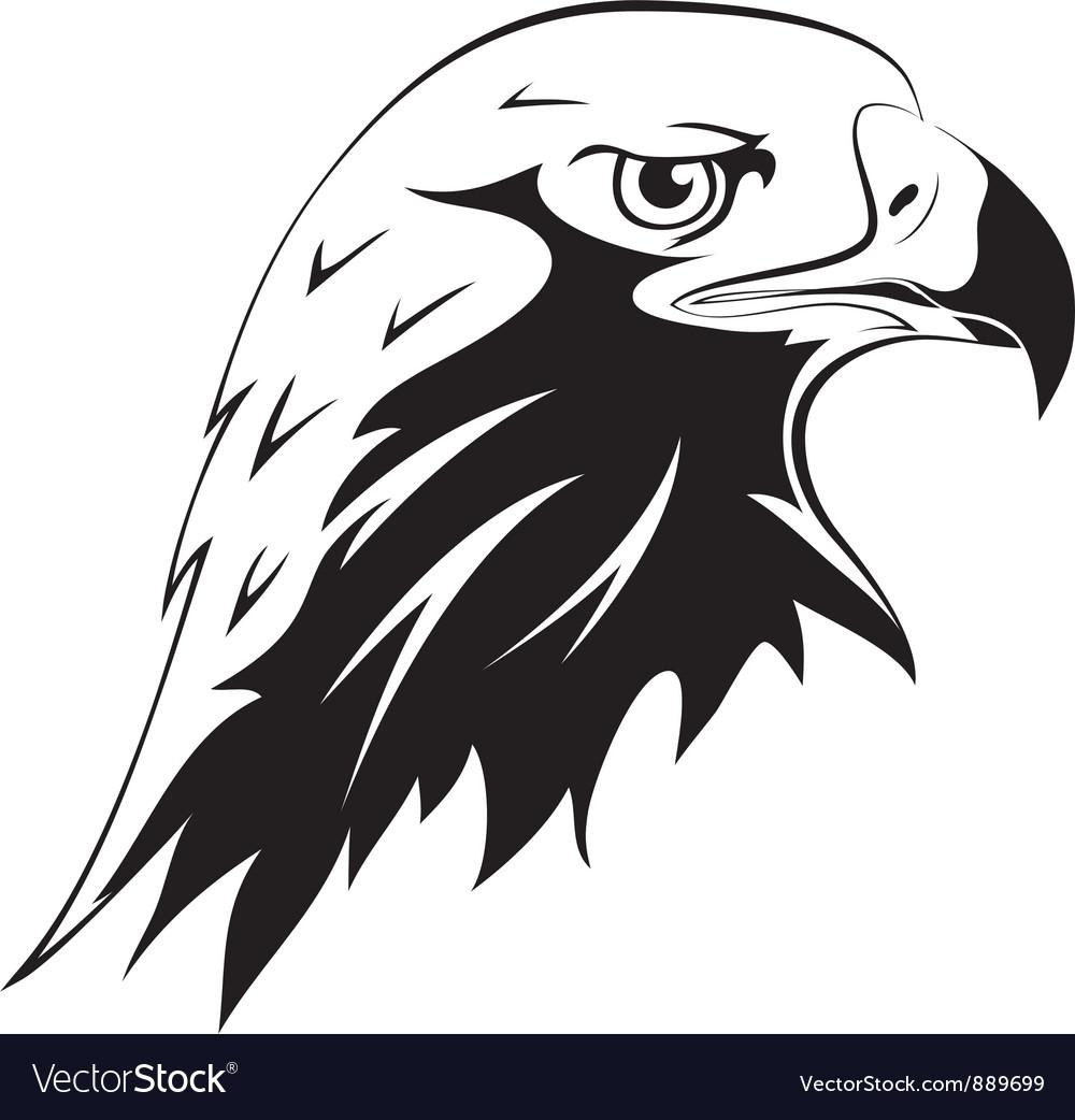 Tattoos Eagles head Vector Image
