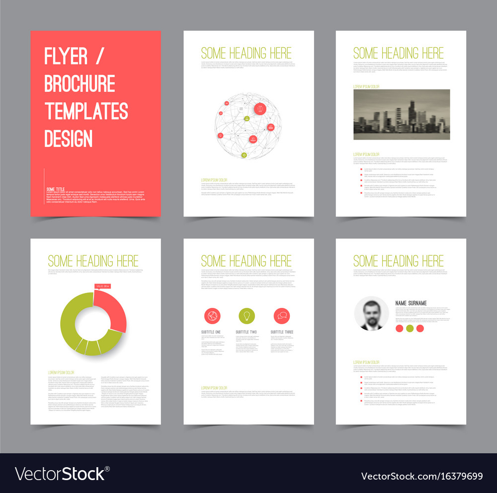 Set Of Modern Brochure Flyer Design Templates Vector Image  Flyer Samples Templates